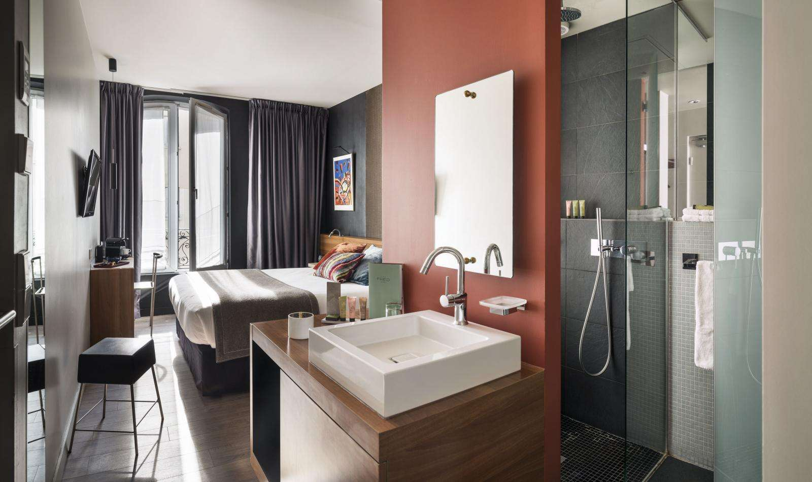 Photos Of Our Star Hotel And Its Rooms Fred Hotel Paris Montparnasse - Fred's floor tile